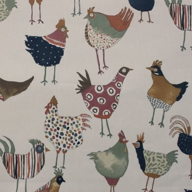 Harriet Hens Vintage Cotton Fabric