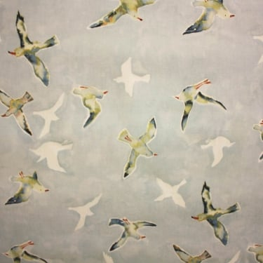 Sea Gulls Sky Cotton Fabric
