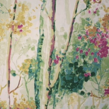 Silver Birch Orchid Cotton Fabric