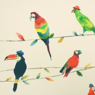 Toucan Talk Paintbox Cotton Fabric