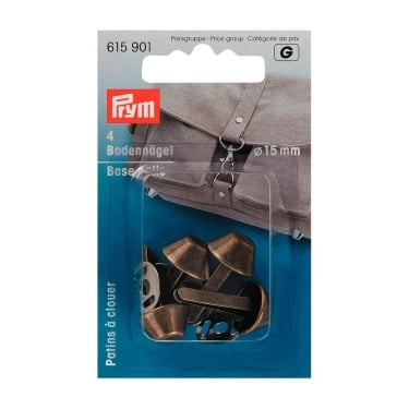 Prym Base Nails - Antique Brass