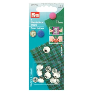 Prym Nickel Cover Buttons - 11mm