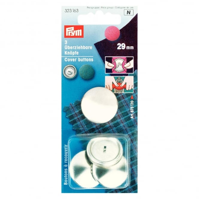 Prym Nickel Cover Buttons - 29mm