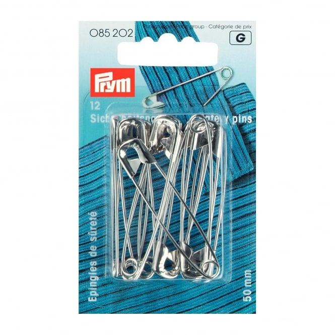 Prym Safety Pins - Silver Coloured 50mm