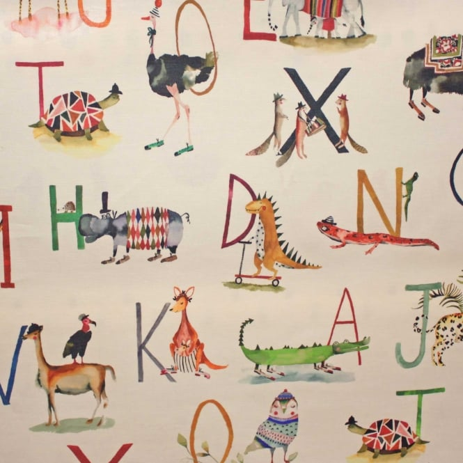 PVC Tablecloth Animal Alphabet Fudge