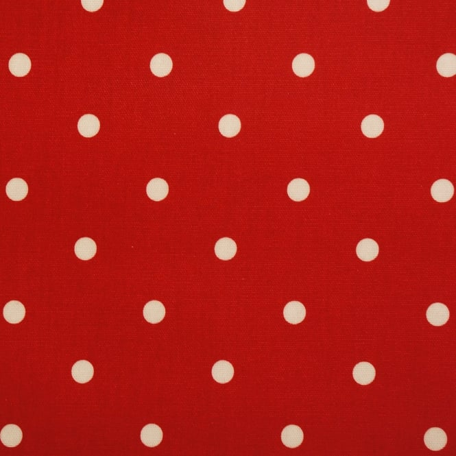 PVC Tablecloth Dotty Gloss - Red