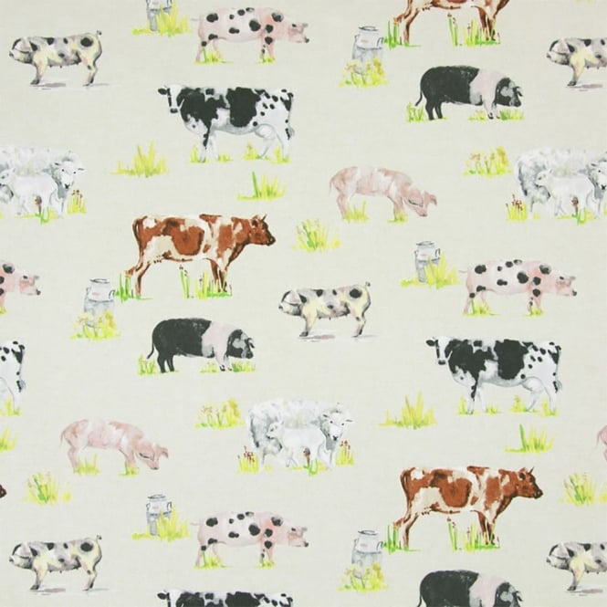 PVC Tablecloth - Farmyard Animals Linen (PVC5803/031)