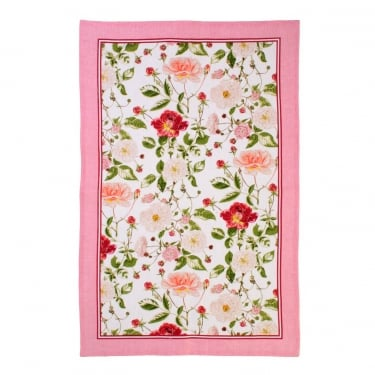 RHS Rose Linen Tea Towel