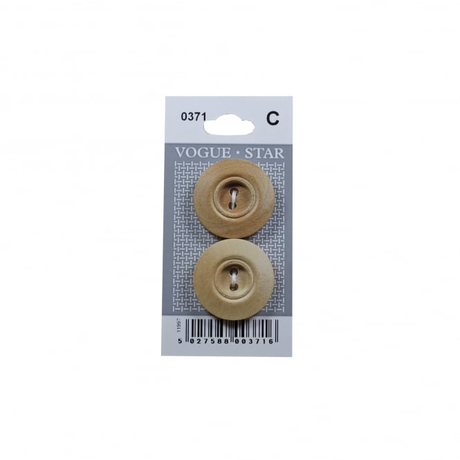 Rimmed Wooden Buttons 0371 (Pack/2)