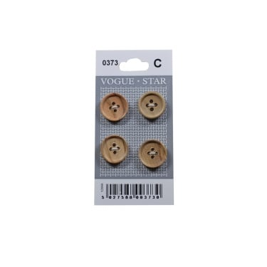 Rimmed Wooden Buttons 0373 (Pack/4)