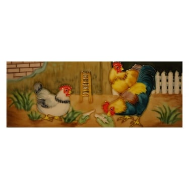Roosters Wall Art Tile