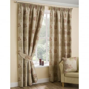 Rowan Red Ready Made Curtains