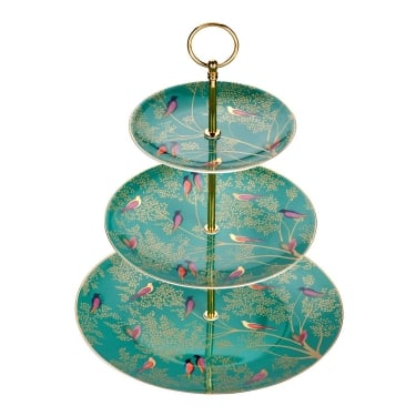 Sara Miller Chelsea Green 3 Tier Cake Stand