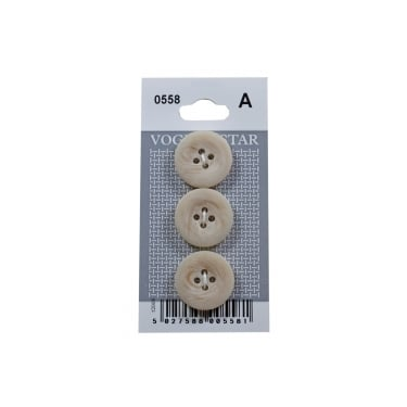 Shell Effect Buttons 0558 (Pack/3)