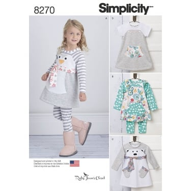 Simplicity Pattern 8270 A Size 6 months - 4 years