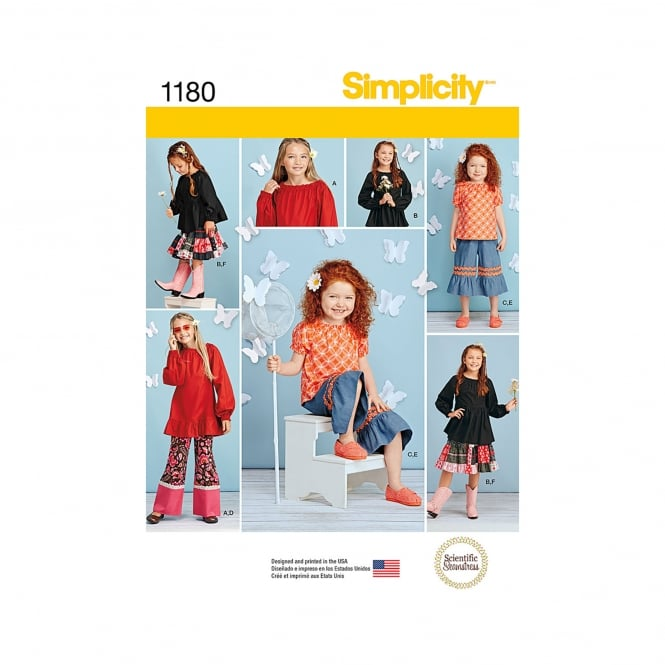 Simplicity Sewing Pattern 1180 K5 Size 7 - 14 years