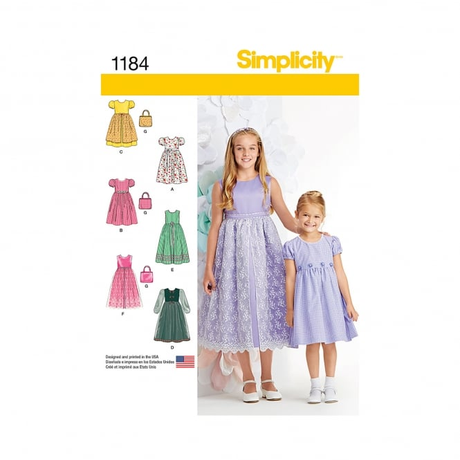 Simplicity Sewing Pattern 1184 K5 Size 7 - 14 years