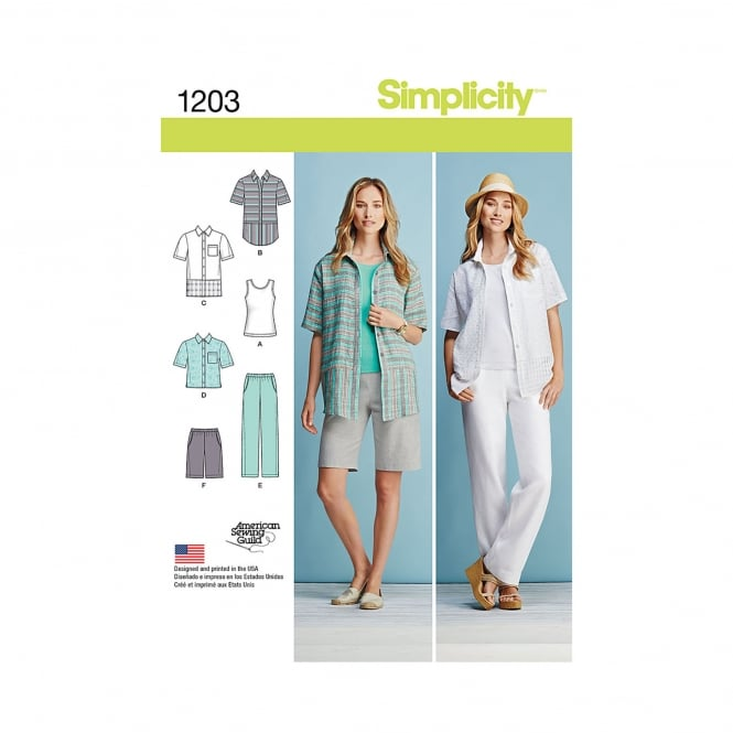 Simplicity Sewing Pattern 1203 BB Size 20w - 28w