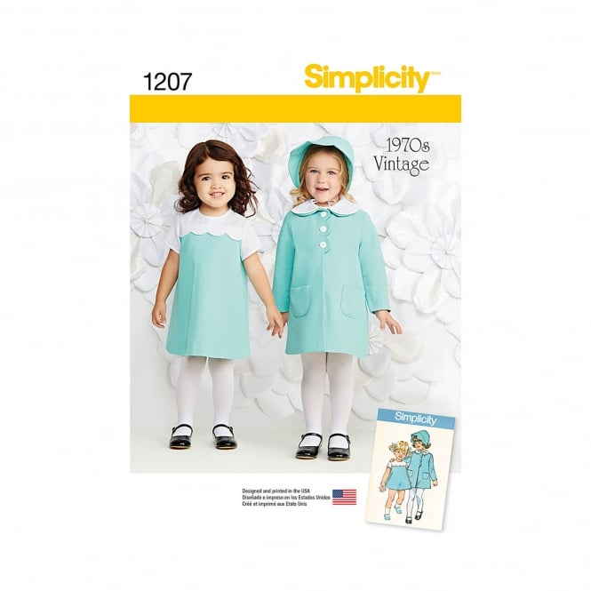 Simplicity Sewing Pattern 1207 Size 6 Months - 4 Years