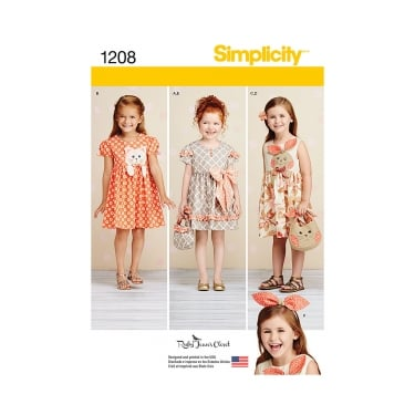 Simplicity Sewing Pattern 1208 Size 3 - 8 Years