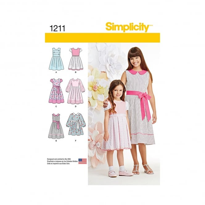 Simplicity Sewing Pattern 1211 HH Size 3 - 6 Years