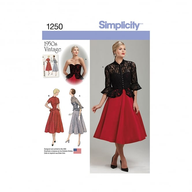 Simplicity Sewing Pattern 1250 R5 Size 14 - 22