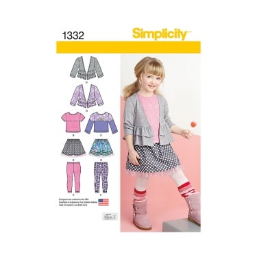 Simplicity Sewing Pattern 1332 Size 3 - 8 years