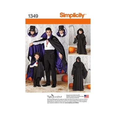Simplicity Sewing Pattern 1349 Size S - L / S - XL