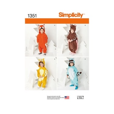 Simplicity Sewing Pattern 1351 Size 6mnths - 4 years