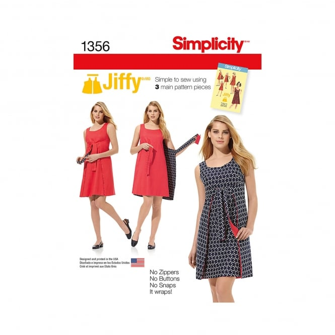 Simplicity Sewing Pattern 1356 H5 Size 6-14