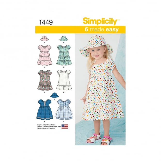 Simplicity Sewing Pattern 1449 Size 6mnths-2years
