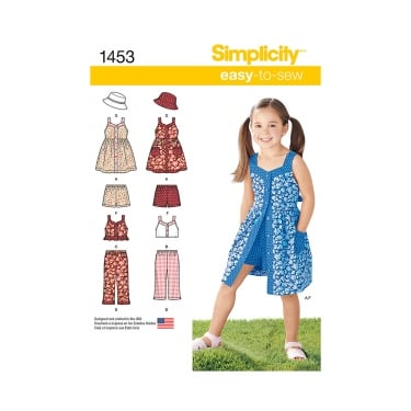 Simplicity Sewing Pattern 1453 Size 3 - 8 years