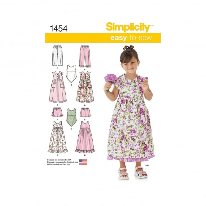 Simplicity Sewing Pattern 1454 Size 3 - 8 years