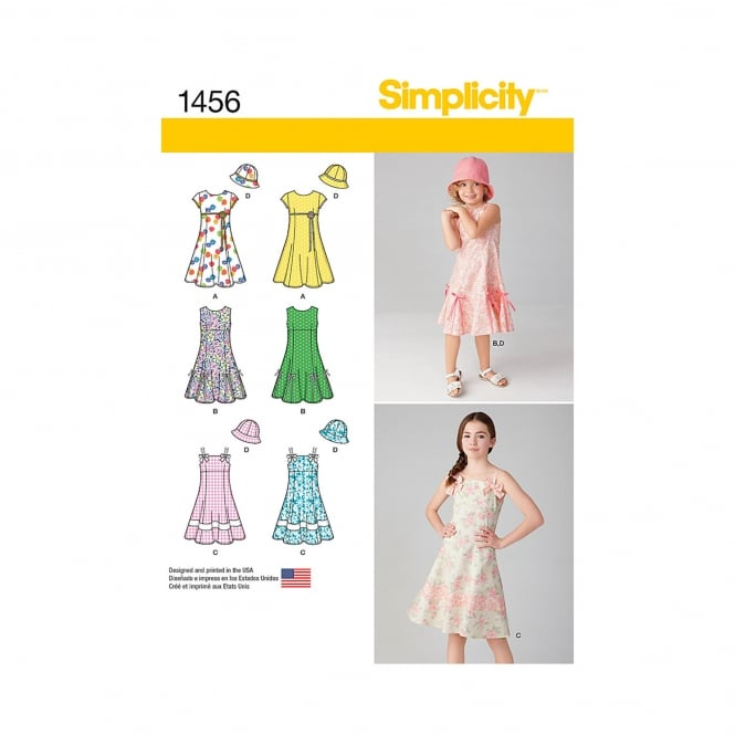 Simplicity Sewing Pattern 1456 Size 3 - 6 years