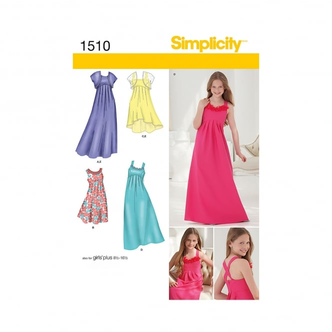 Simplicity Sewing Pattern 1510 Size 8-16 years