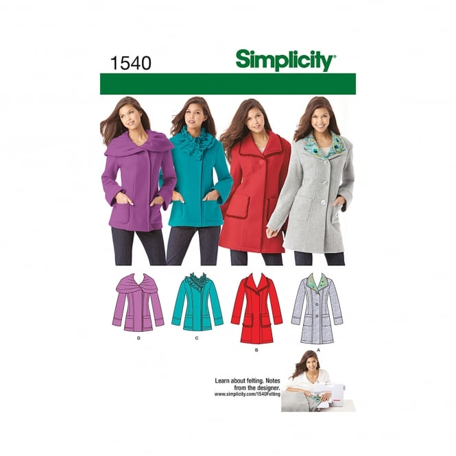 Simplicity Sewing Pattern 1540 R5 Size 14 - 22
