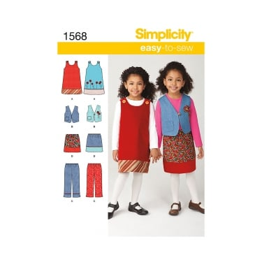 Simplicity Sewing Pattern 1568 Size 3 - 8 years