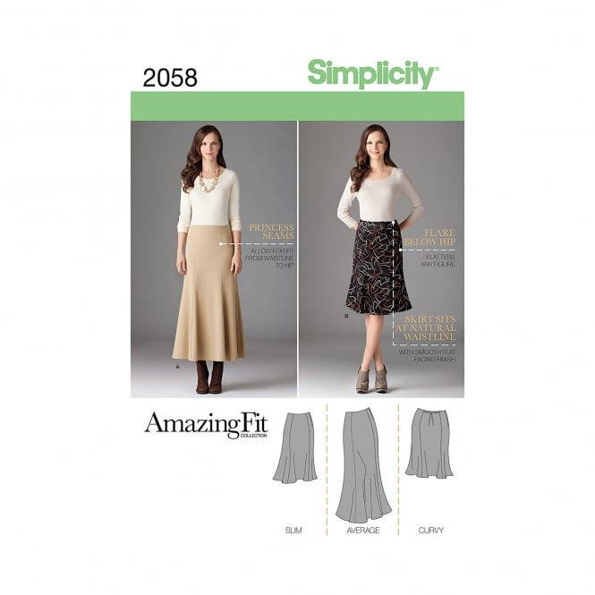 Simplicity Sewing Pattern 2058 BB Size 20w - 28w