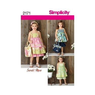 Simplicity Sewing Pattern 2171 Size 3 - 8 Years