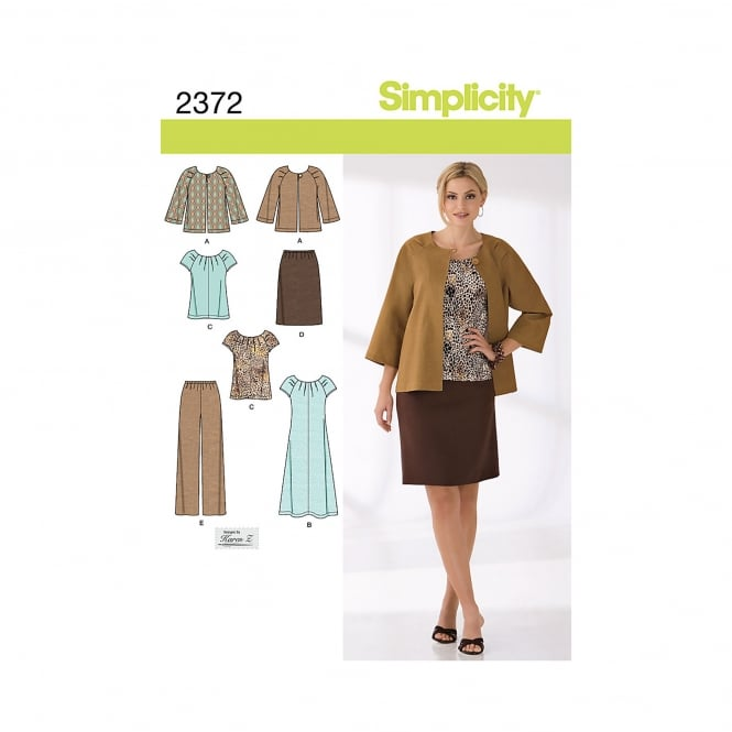 Simplicity Sewing Pattern 2372 BB Size 20w - 28w