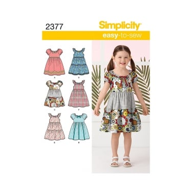 Simplicity Sewing Pattern 2377 Size 3 - 8 Years