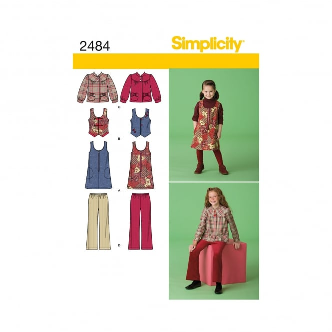 Simplicity Sewing Pattern 2484 HH Size 3 - 6 Years