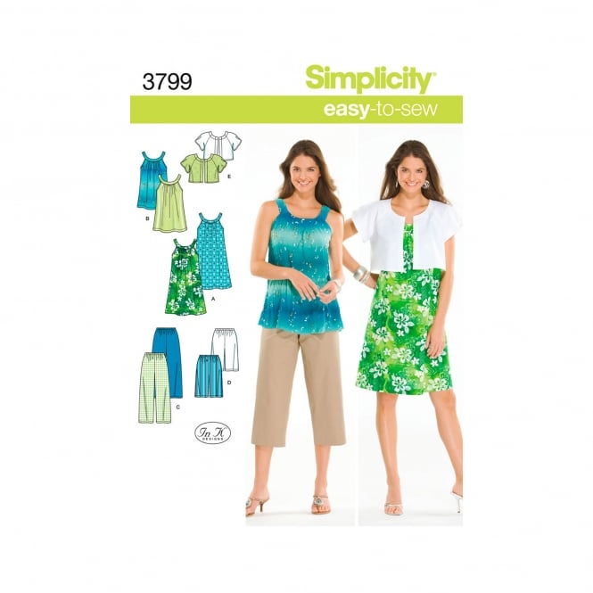 Simplicity Sewing Pattern 3799 BB Size M - XXL