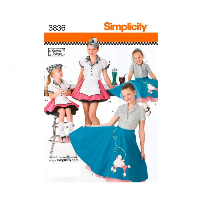 Simplicity Sewing Pattern 3836 HH Size 3 - 6 Years