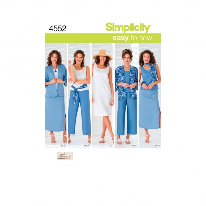 Simplicity Sewing Pattern 4552 BB Size 20w - 28w