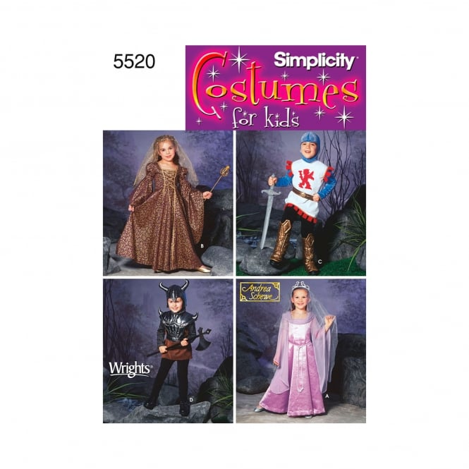 Simplicity Sewing Pattern 5520 Size 3 - 8 Years