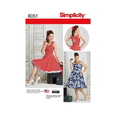 Simplicity Sewing Pattern 8051 Size 10 - 18