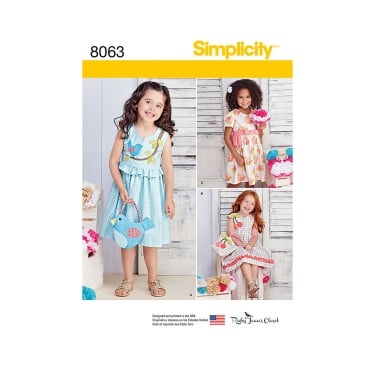 Simplicity Sewing Pattern 8063 A Size 3 - 8 years