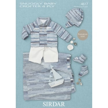 Sirdar Baby Crofter 4 Ply Leaflet 4617