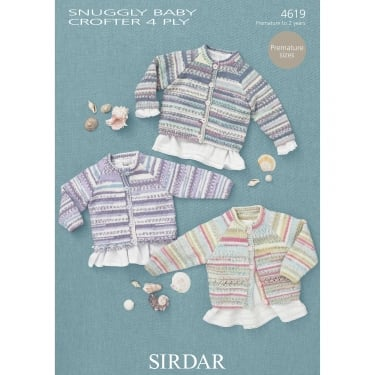 Sirdar Baby Crofter 4 Ply Leaflet 4619